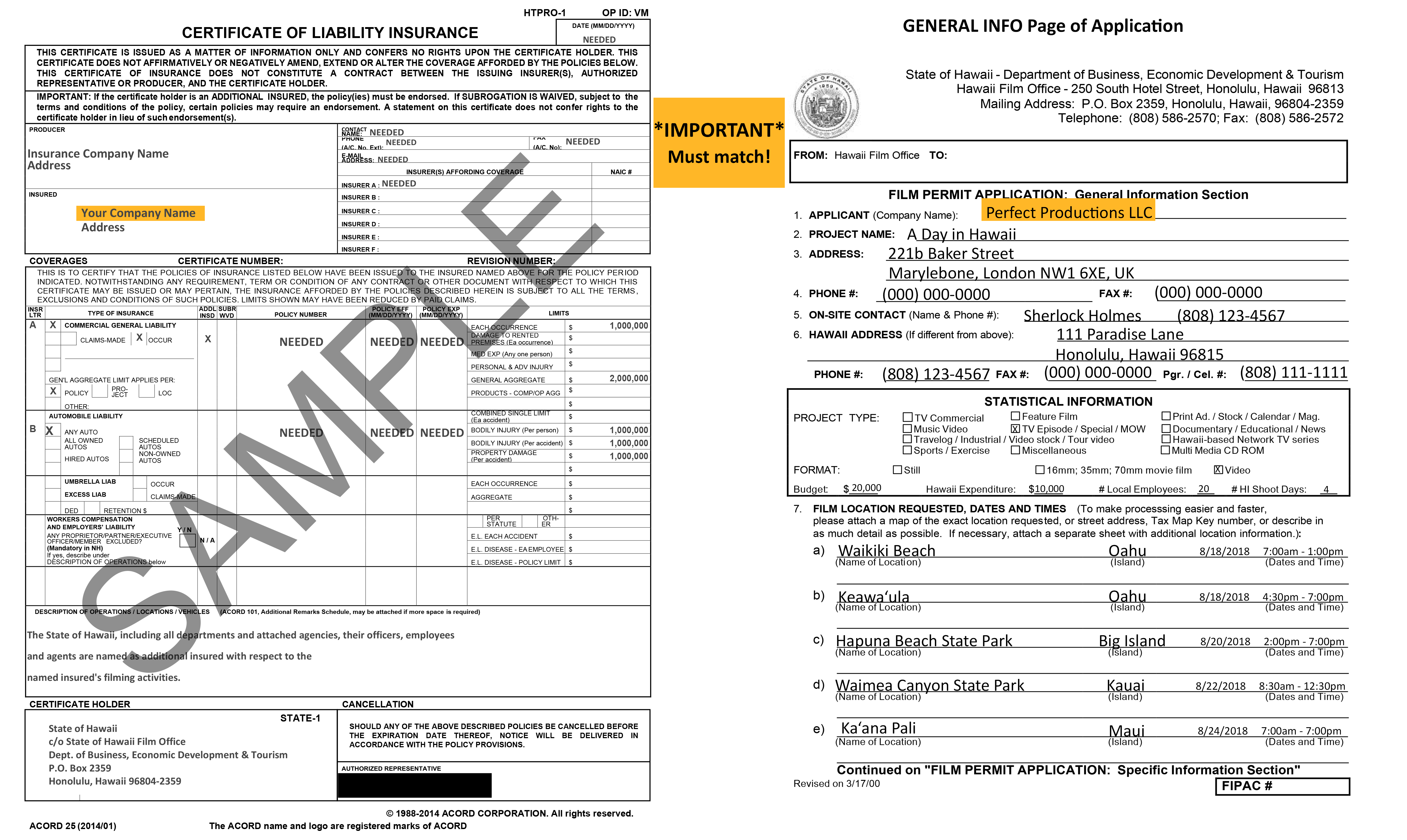 Standard-Permit-COI-Example Adobe Form Example on illustrator title page, illustrator font, captivate template, spark portfolio, illustrator design, electronic signature, sparkpages storytelling workbook, captivate elearning,